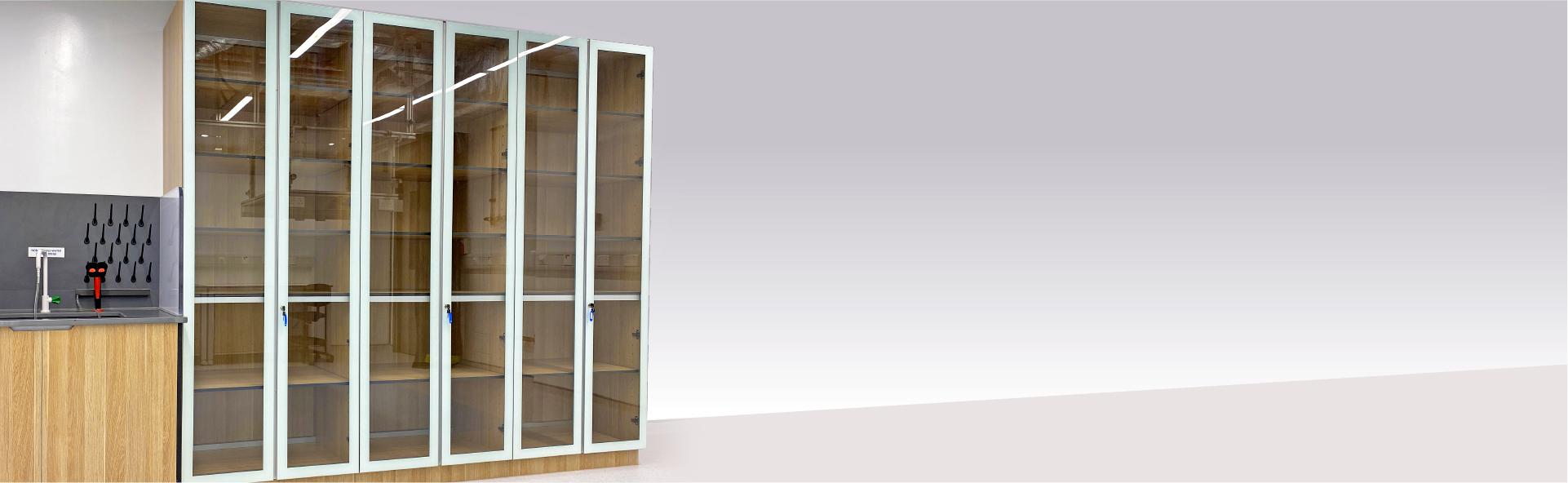 Glass Door Full Height Cabinet