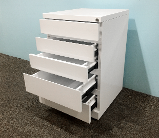 3 Drawers Mobile Pedestal Avaiable In Grey Black And White Image 1