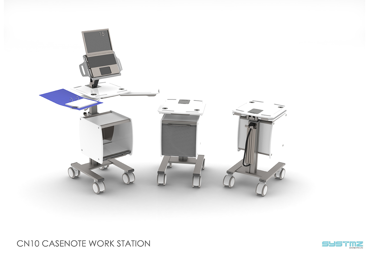 CaseNote 10 Workstation Design Render