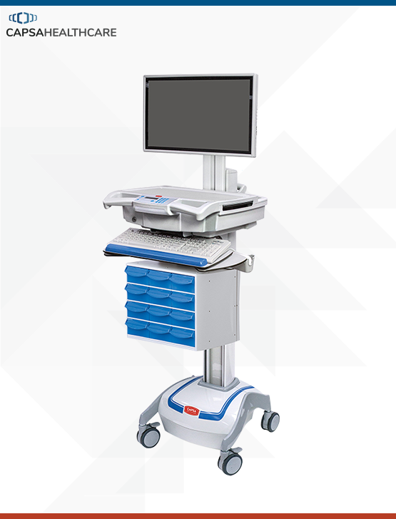 M38e Medication Cart Powered LCD