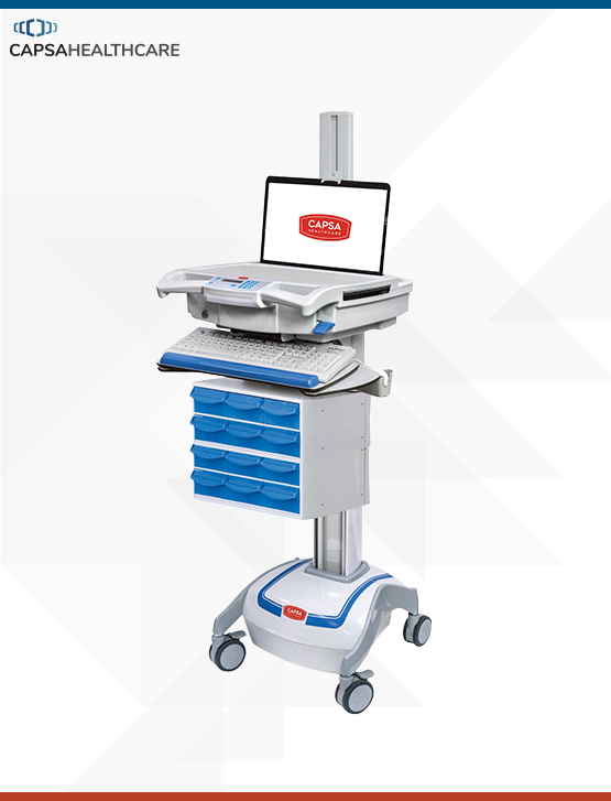 M38e Medication Cart Powered Laptop